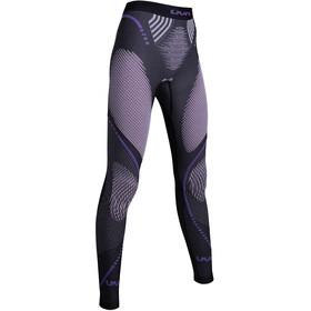 UYN Evolutyon Melange UW Long Pants Women Anthracite Melange/Raspberry/Purple